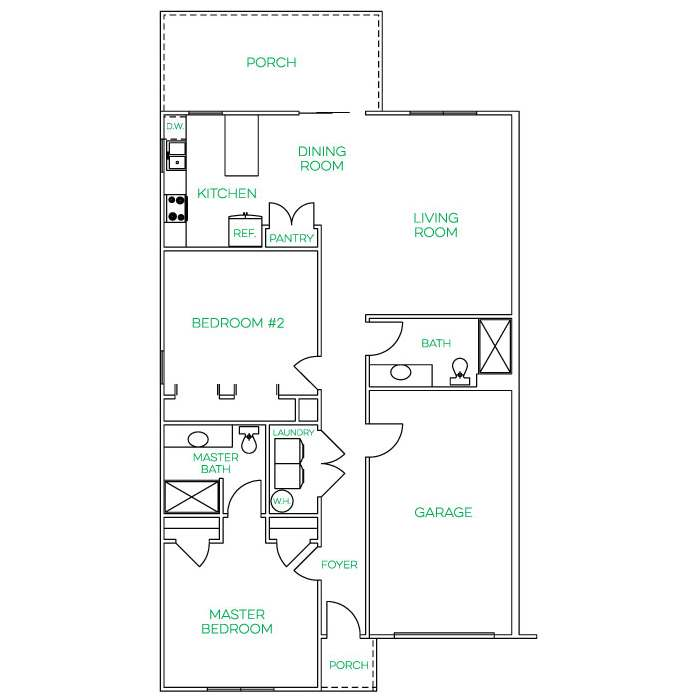 Cedar Springs 2 Bedroom